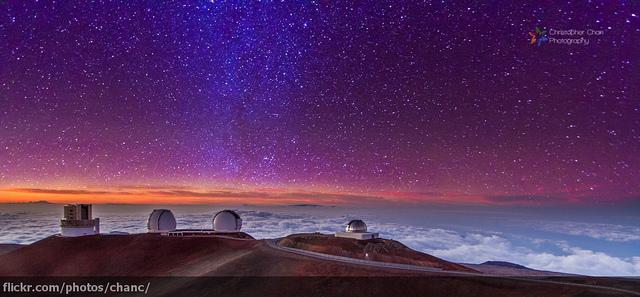 A Mauna Kea Csillagvizsgáló Hawaii-n. Fotó: